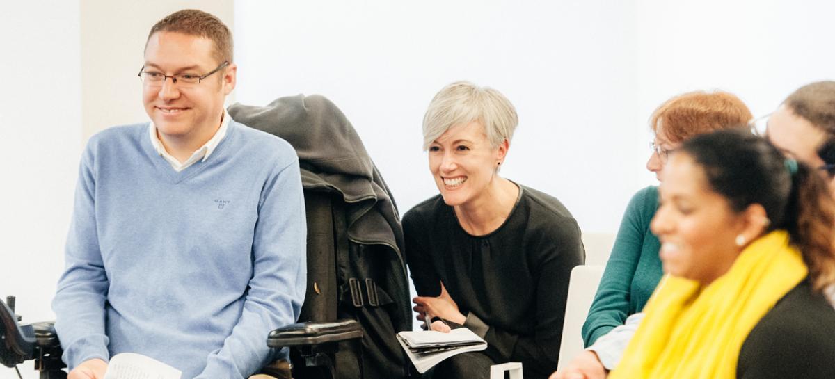 Volunteers taking part in a Muscular Dystrophy UK workshop